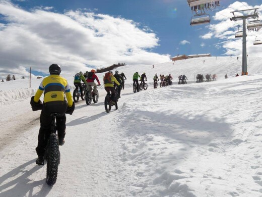 Maurizio Deflorian escursione invernale con gruppo