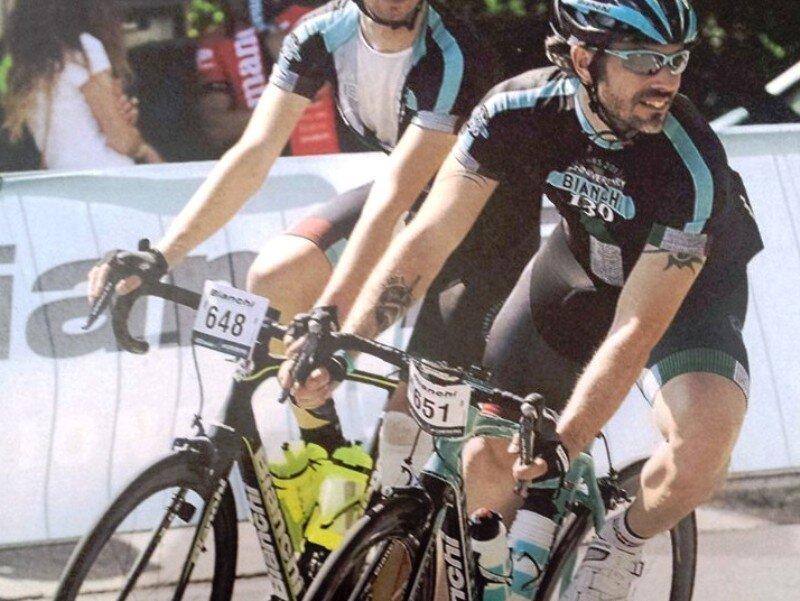 Konrad Iarussi in gara a Bergamo